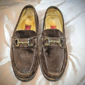 Cole Haan City Brown Suede Loafers w/ Buckles 7.5